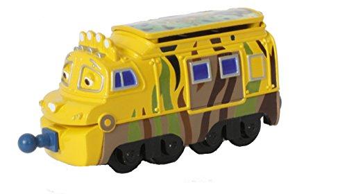 Chuggington Locomotora del Personaje Mtambo, color amarilla con verde