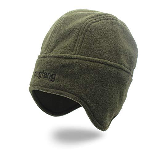 Ruanyi Fleece Earmuffs Fall Head Cap Winter Warm Ski Catching Velvet Cap Windproof Snow-Proof Couple Hat for Women Men (Color : 1, Size : M)