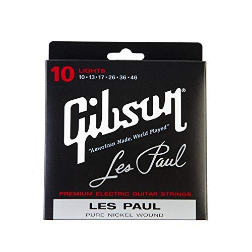Gibson Les Paul Premium Electric Guitar Strings, Light Gauge 10-46
