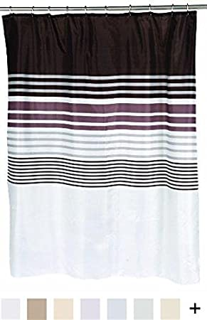 Standard Carnation Home Fashions 100-Percent Polyester Fabric Print 70 by 72-Inch Shower Curtain Emma Multi Color