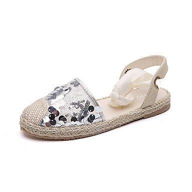 Las mujeres sandalias de goma confort de verano al aire libre caminando confort bloque hebilla talón plata negro bajo 1EN US7.5 / EU38 / UK5.5 / CN38