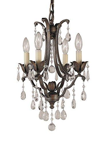 Murray Feiss F1881/4BRB, Maison De Ville Crystal Chandelier Lighting, 4 Light, 240 Watts, Bronze (Versailles Four Light Chandelier)