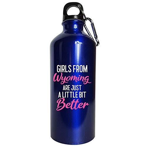 Girls From Wyoming Are Little Bit Better - Water Bottle Metallic Blue