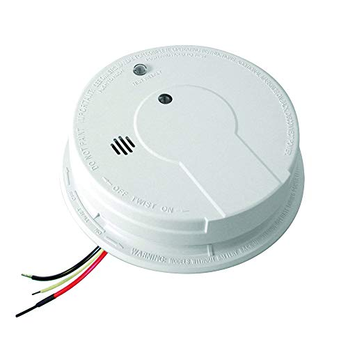 Kidde i12040 120V AC Wire-In Smoke Alarm with Battery Backup and Smart Hush