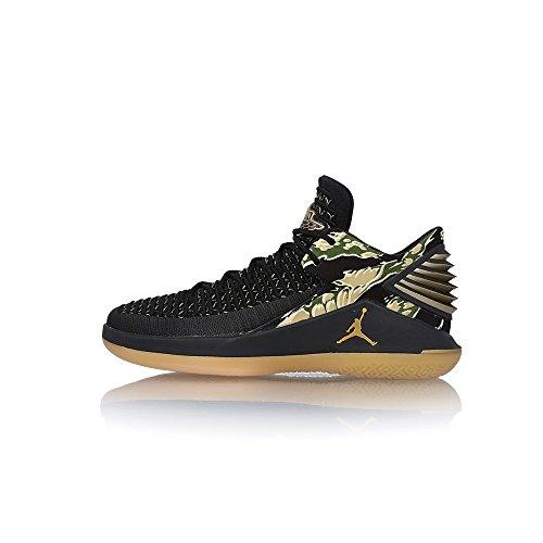 Gum Black Men's 021 Nike Basketball Schwarz Metallic Gold Yellow Shoes AA1256 Yqddnwz