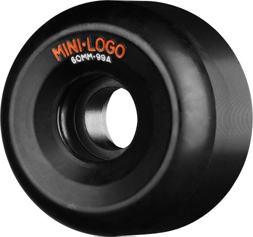 Skate One Mini-Logo A-Cut Wheels, Black, 56mm x 101mm