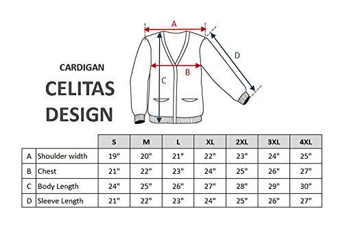 CELITAS DESIGN Alpaca Cardigan Golf Sweater Jersey V Neck Buttons and Pockets Made in Peru Silver Grey L by CELITAS DESIGN (Image #1)