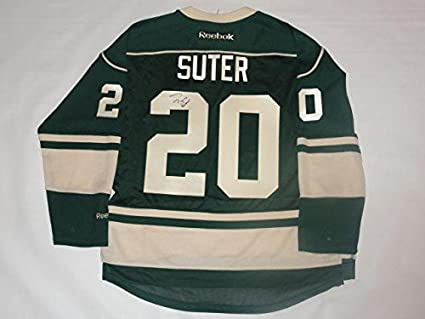 competitive price 02fe1 ec0d4 Ryan Suter Autographed Jersey - Green Alternate Licensed ...
