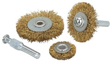 Harbor Freight Tools 5 Piece Brass Rotary Wire Wheels