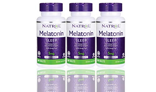 Natrol Melatonin Time Release 5mg Tablets 100 ea (Pack of -