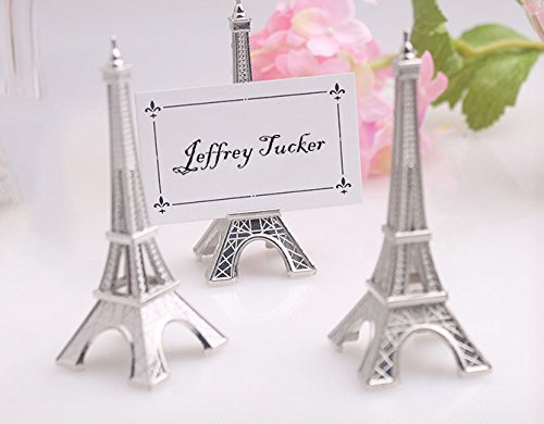 MEOLY Place Card Holder Eiffel Tower Style Card Clamp Stand Table Note Memo Picture Photo Name Card Clip Holder for Lawn Wedding Party Favor Deco Set of 5pcs