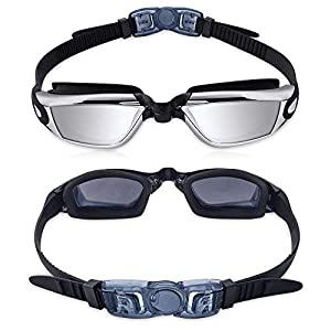 Hawaii Sol Swim Goggles Swimming Goggles No Leaking Anti Fog UV Protection Triathlon Swim Goggles with Free Protection…