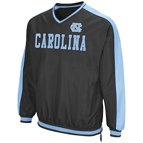 Colosseum NCAA North Carolina Tar Heels Attack Line Windbreaker Jacket-charcoal-medium