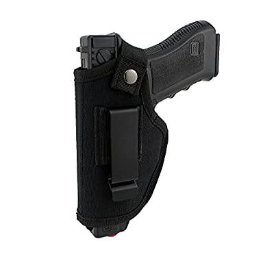 Depring Concealed Carry Holster Carry Inside or Outside The Waistband for Right and Left Hand Draw Fits Subcompact to Large Handguns