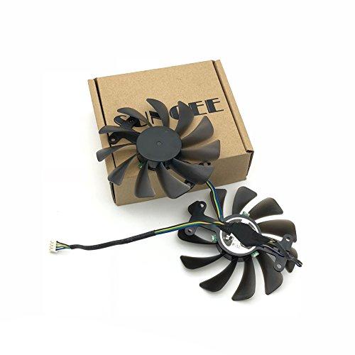 2pcs/lot GF10012H12SPA 0.5A video cards cooler GTX1080 GPU fan For zotac GeForce GTX 1080 AMP Graphics Card GPU cooling by Z.N.Z (Image #5)