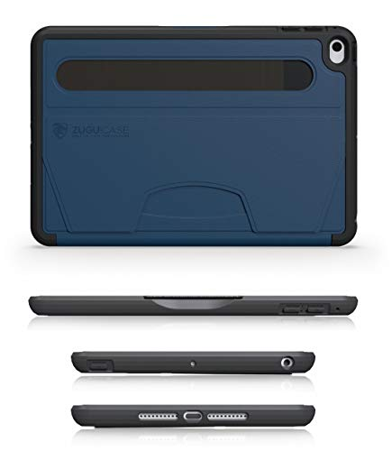 ZUGU CASE - iPad Mini 5 & 4 Muse Case - 5 Ft Drop Protection, Secure 7 Angle Magnetic Stand (Navy Blue)