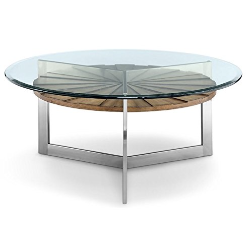 Magnussen T3805-45 T3805 Rialto Contemporary Brushed Nickel Round Coffee Table