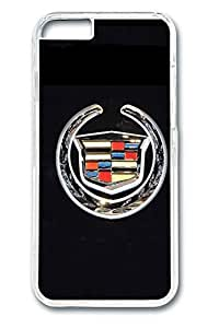 iPhone 6 Case - Protective Fitted Smooth Cover Case for iPhone 6 Cadillac Car Logo 12 Clear Hard Back Bumper Cases for iPhone 6 4.7 Inches