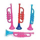 Rhode Island Novelty Kids Plastic Trumpets (1 Dz)