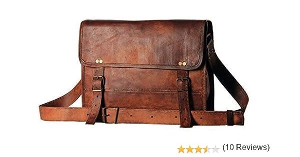 f9633a61e1d2 Mens Leather Messenger Satchel Shoulder Briefcase Business Bag - Handmade  Bag