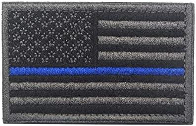 Parche de bandera táctica de Estados Unidos, negro y gris, bandera estadounidense Estados Unidos de América uniforme militar emblema parches: Amazon.es: Juguetes y juegos