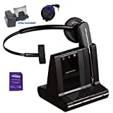 Plantronics Savi W740 Wireless Headset System Bundled with Lifter, Busy Light and Headset Advisor Wipe - Professional Package