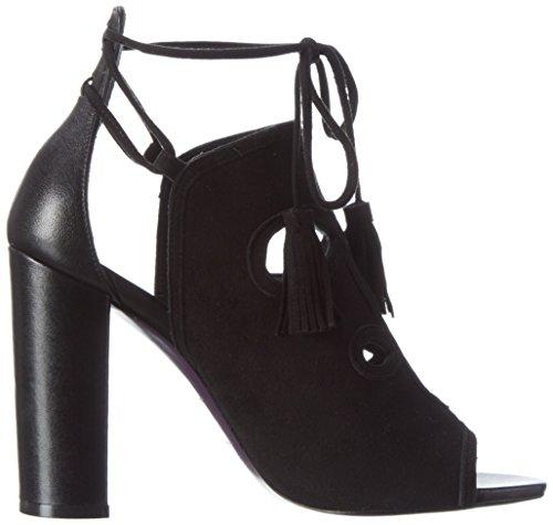 Femme Ouvert Bout Sandale Sandales 900 Noir Laurèl SCq0gHx