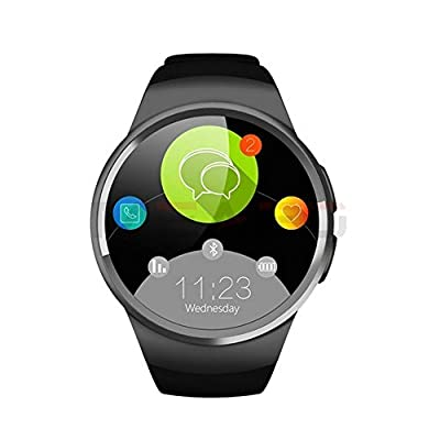Bluetooth Smart Watch Phone KW18 Sim And TF Card Heart Rate Reloj Smartwatch Wearable Compatible For IOS Apple iPhone 5s/6/6s/SE Android Samsung HTC Sony LG Smartphones