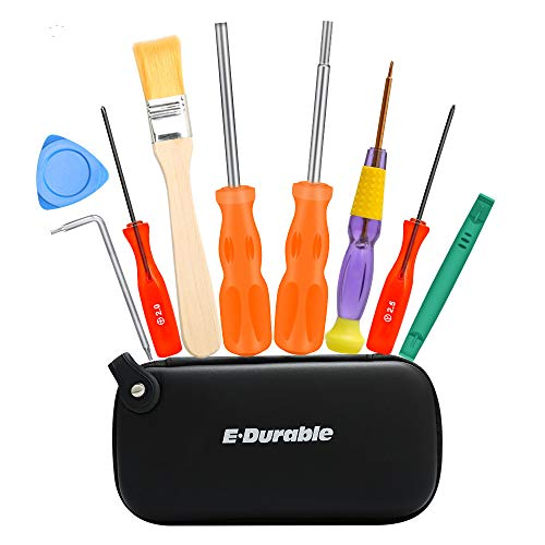 E.Durable Gamebit Set, 3.8mm and 4.5mm Security Screwdriver Game Bit Set for Nintendo Switch 3DS N64 Console Wii U Sega Master Genesis 32x, Game Cube Console,etc - Lifetime Warranty (Genesis Driver)