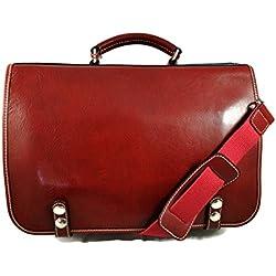 Carpeta de cuero bolso de hombre piel bolso de mujer piel bolso messenger de cuero bolso de espalda bolso de mano bandolera de piel rojo