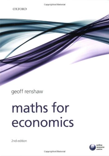 Maths for Economics by Oxford University Press