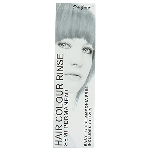 StarGazer Semi Permanent Hair Color - SILVER LOOK - Amonia Free Hair Dye Includes Gloves
