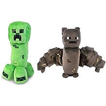 Minecraft Creeper and Bat Plush Set, 8 Inches