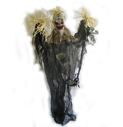 [Scary Scarecrow Clown Funny Haunted House Hanging Prop 65