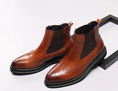ddb3deb4eb49 ... Herren Lederschuhe Herren Lederstiefel High-Top-Schuhe Martin Stiefel  wies kurze Stiefel britischen Stil ...