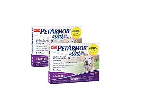PETARMOR PLUS FOR DOGS 45-88 LBS Pack of 2 by PETARMOR PLUS