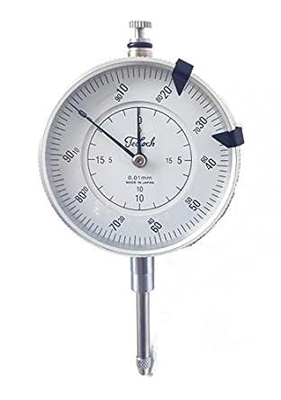 TECLOCK 4409-1114 Group 2 Metric Dial Indicator 0-20 mm Range 0.01 mm Graduation