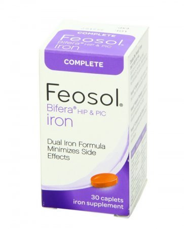 Feosol Bifera Iron Caplets Complete 30 ea by Feosol