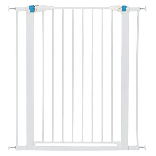 MidWest Homes for Pets Pet Gate | 39'' High Walk-thru Steel Pet Gate by 29'' to 38'' Wide in Soft White w/Glow Frame, X-Tall by MidWest Homes for Pets