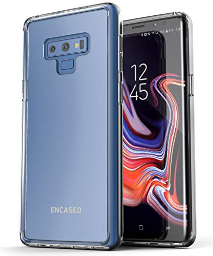 Encased Galaxy Note 9 Clear Case, Ultra Slim (Scratch Resistant) Protective TPU Cover, for 2018 Samsung Note 9 Phone