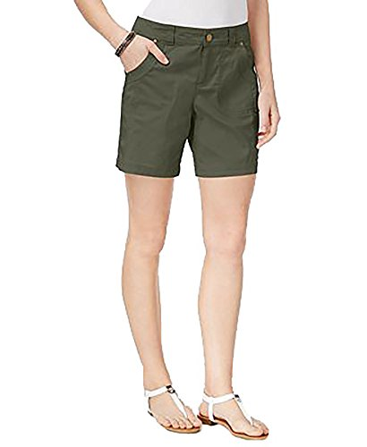 Style & Co. Womens Flat Front Mid Rise Casual Shorts Green ()