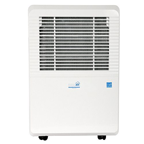 Ideal-Air Dehumidifier | 80 Pint | Portable, LED Display w/ Dehumidistat and Timer Included - Perfect for home, office, garage, shop, marine and RV applications - UL Listed.