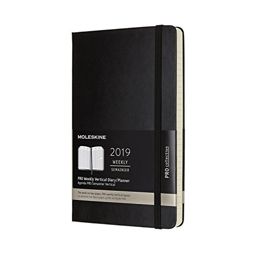 (Moleskine Pro Hard Cover 2019 12 Month Weekly Vertical Planner, Large (5