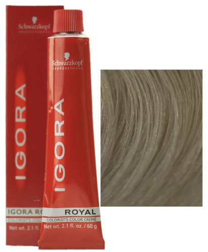 Schwarzkopf Igora Royal 9-1 Extra Light Blonde Cendre Permanent Hair Color 2.1 fl. oz. (60 g) (60 Hair Developer)