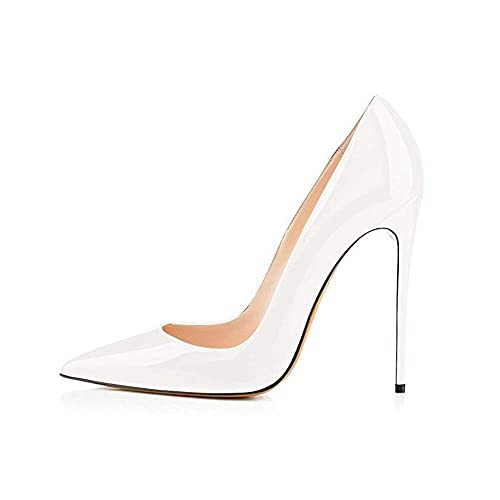 ce53b60543 elepbaba Zapatos de 12 cm Negro Stiletto Punta Mujer Zapatos Sexy Fiesta Zapatos  Tacones Nude Mujer