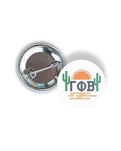 Gamma Phi Beta Sorority Sunset Cactus Pin Back Badge 2.25-inch Button