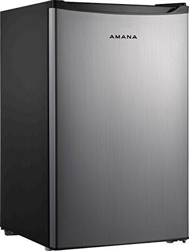 Amana AMAR43S1E 4.3 cu. Ft. One Door Compact Refrigerator, Stainless Steel