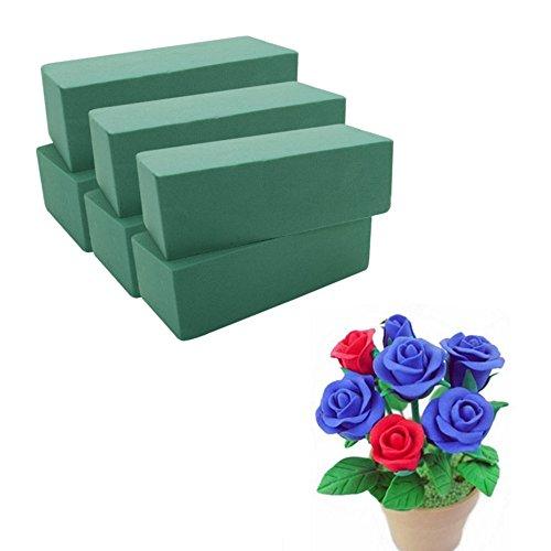 SQingYu 1 Pack Wet & Dry Flower Mud Florist Floral Foam Block Brick, Oasis Ideal Brick Floristry Home Decor for Fresh Flower/Artificial flowers