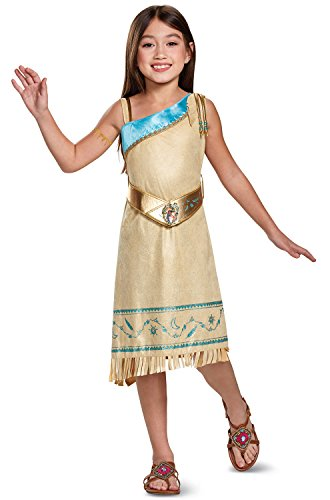 Pocahontas Deluxe Costume, Brown, Medium (3T-4T) -