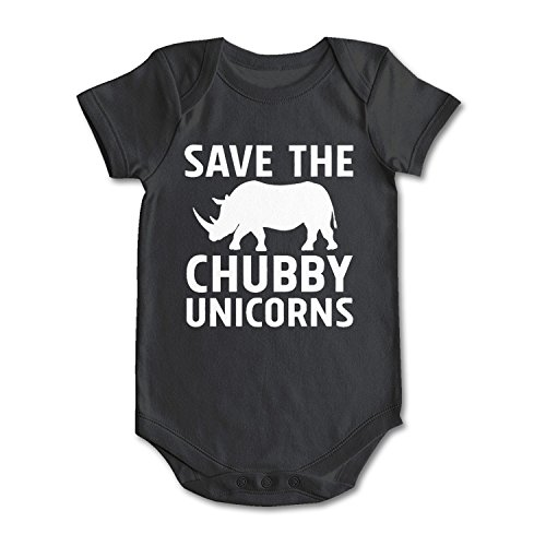 lsawdas Save The Chubby Unicorns Unisex Baby Cotton Short Sleeve Funny Onesies Baby Onesies